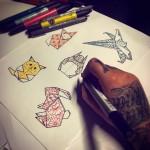 lunderskin-maisonclosetatouage-origami